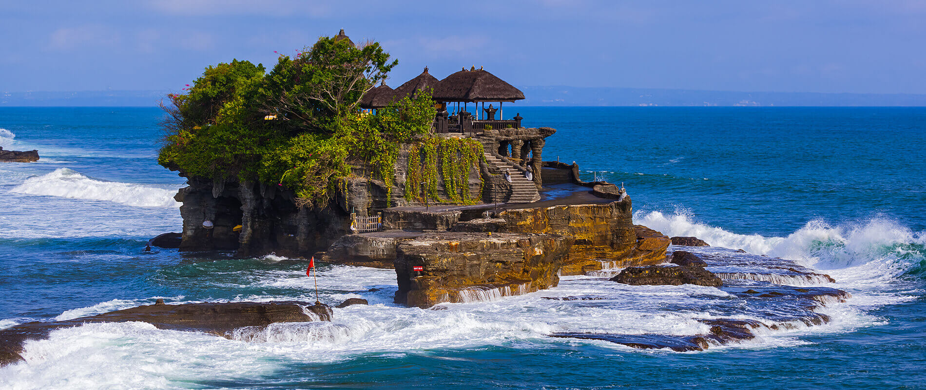 Pura Tanah Lot, a Temple Dedicated to the Divinity of the Sea