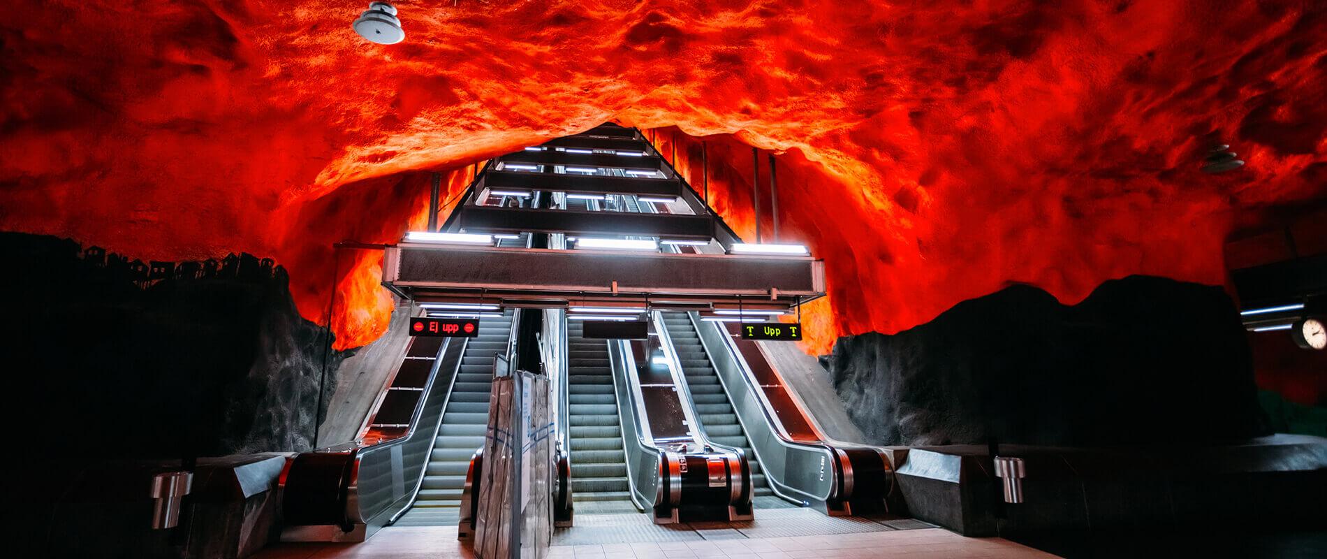 Tunnelbana, la splendida metropolitana di Stoccolma