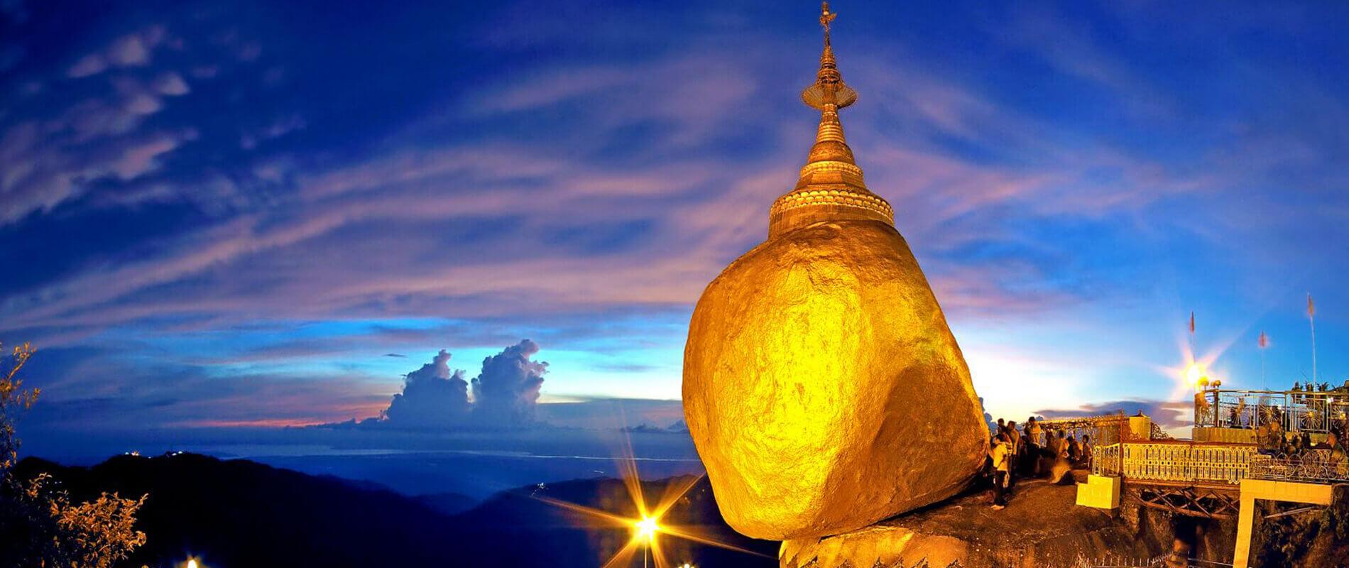 Golden Rock, la sacra roccia dal miracoloso equilibrio