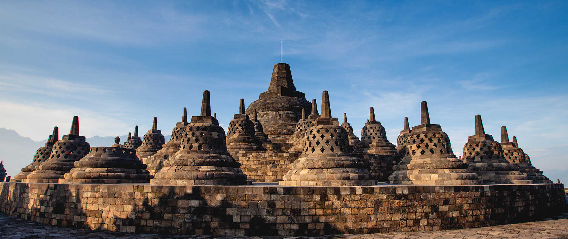 The Temple of Borobudur, a majestic Buddhist Monument on the Island of Java