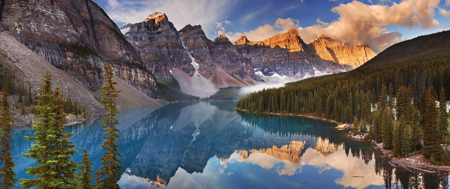 Moraine Lake, a Hidden Jewel hidden in the Canadian Rockies