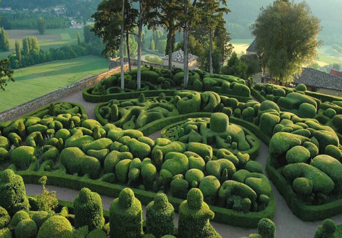 The Marqueyssac Gardens, an Explosion of Evergreen Hedges