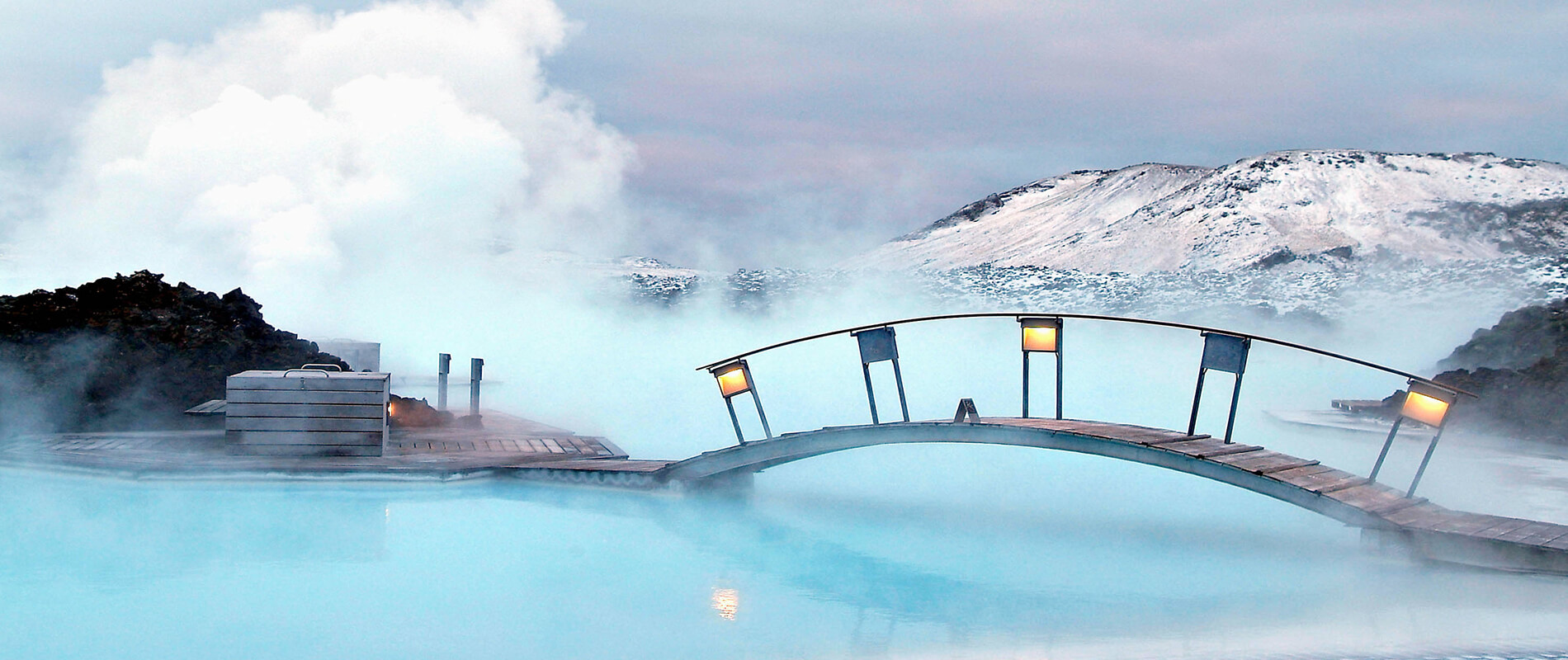 Blue Lagoon, the most famous geothermal pool in Iceland