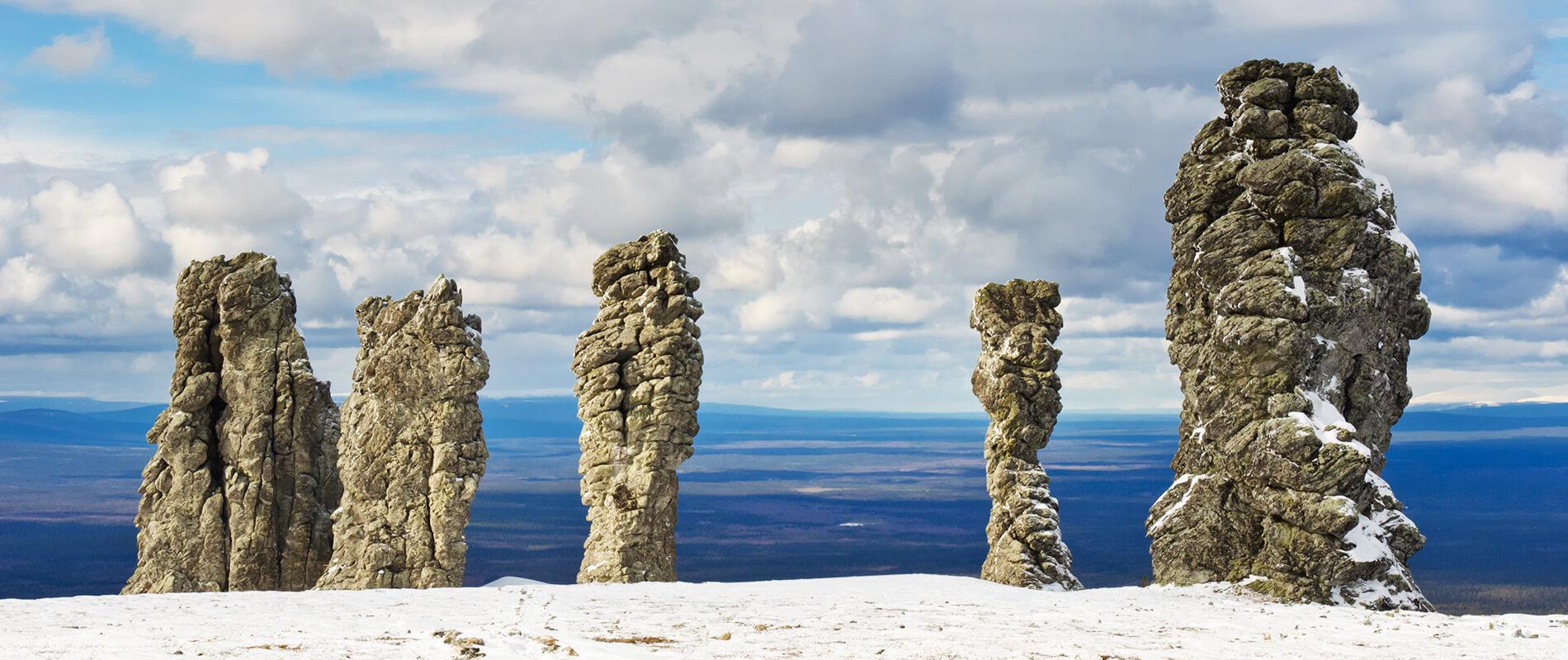 Manpupuner, i sette giganti di pietra degli Urali