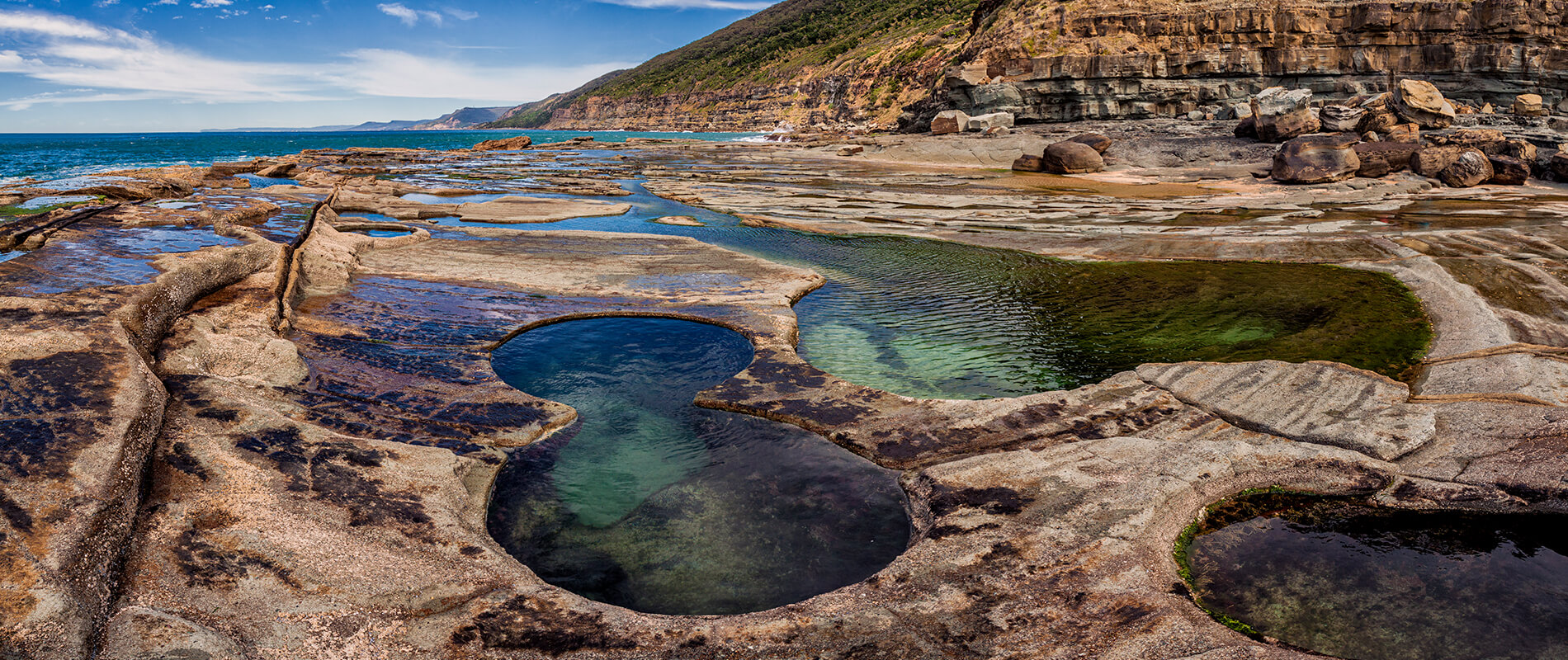 Figura 8 Pools, le suggestive piscine del Royal National Park di Sydney