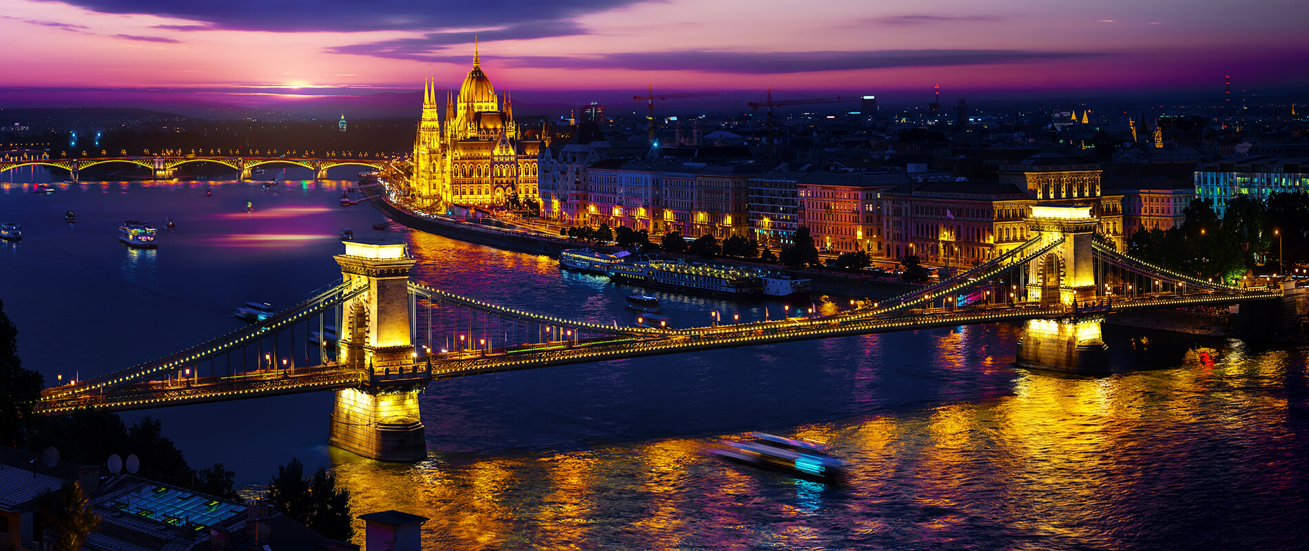 Chain Bridge, an historical gem of Budapest