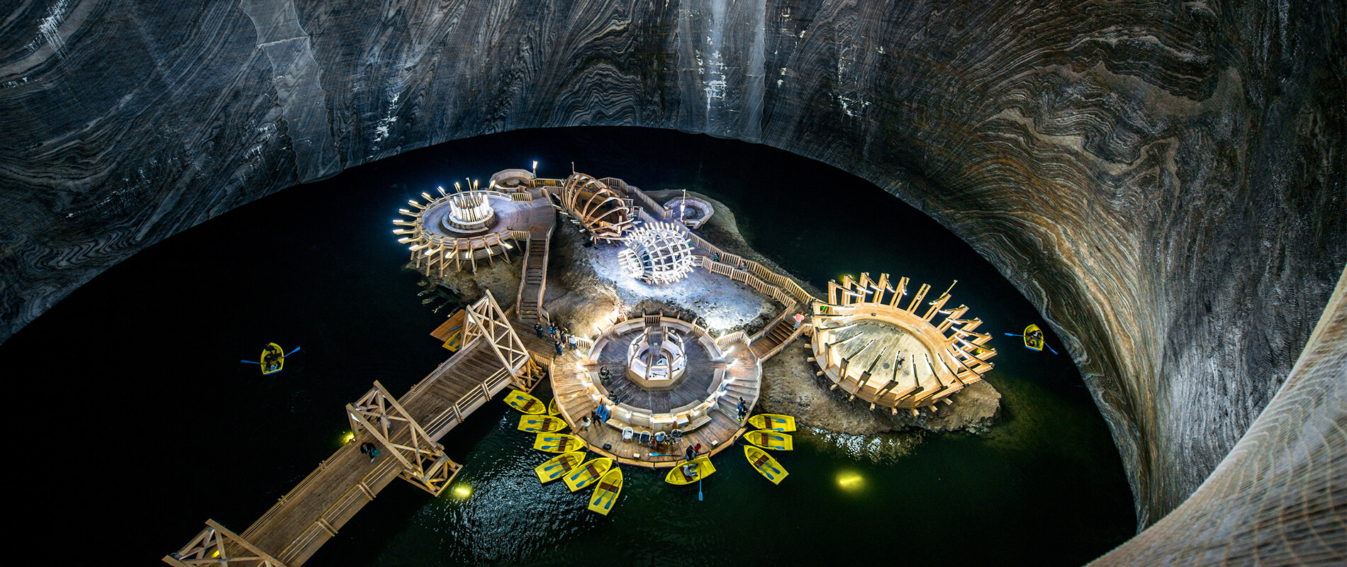 Salina Turda, l'antica miniera di sale trasformata in un parco divertimenti