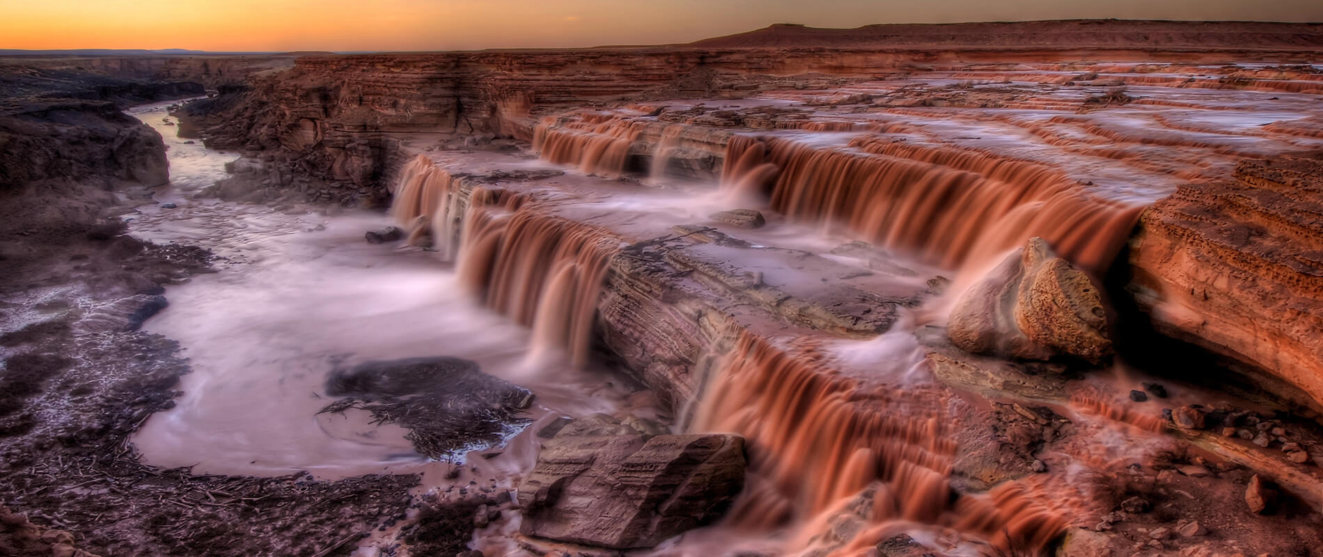 Grand Falls, le cascate di cioccolato in Arizona