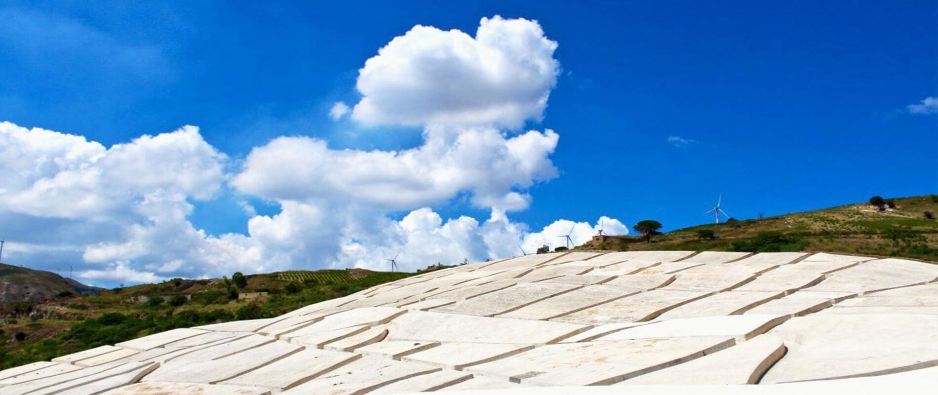 The Great Crack of Burri's Gigantic Land Art Work