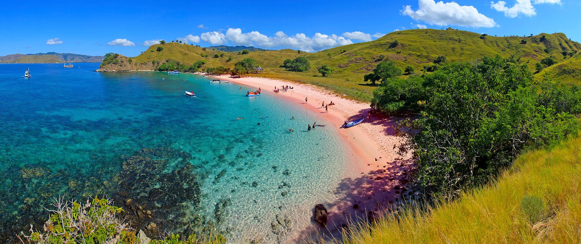Pantai Merah, the Pink Beach of Indonesia