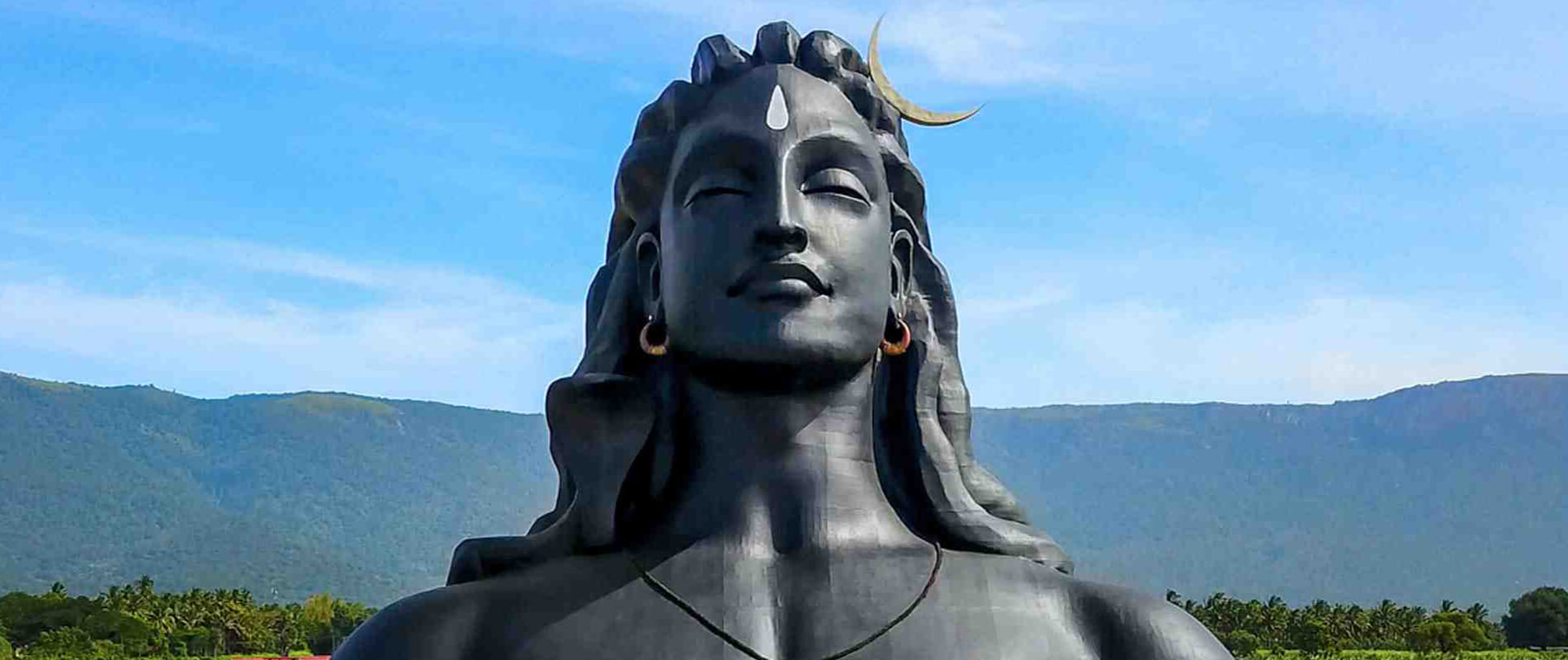 Adiyogi Shiva, the largest steel bust in the world