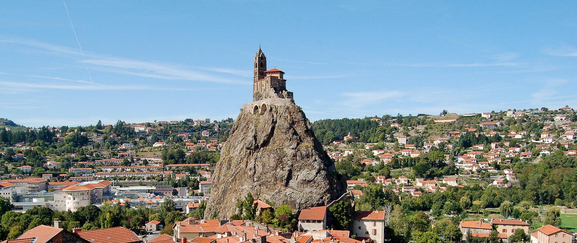Saint Michel d'Aiguilhe, the chapel on top of a volcanic rock