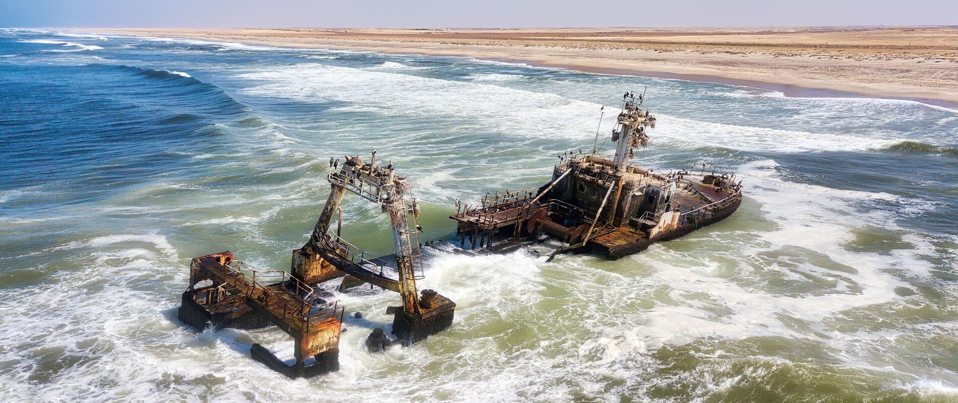 The Skeleton Coast, the most hostile coastal stretch of Namibia